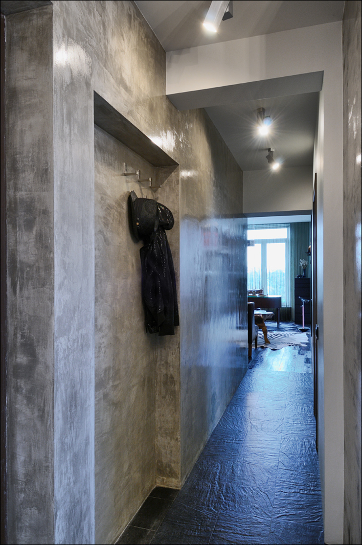 Квартира Мити Фомина Коридор, прихожая и лестница в модерн стиле от Студия дизайна интерьера Лелы Кавтарадзе Модерн