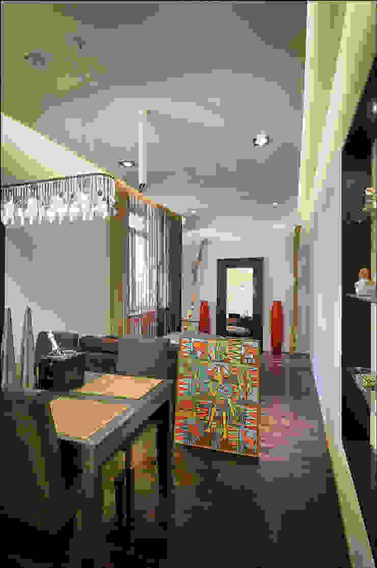 Квартира Мити Фомина Столовая комната в стиле модерн от Студия дизайна интерьера Лелы Кавтарадзе Модерн