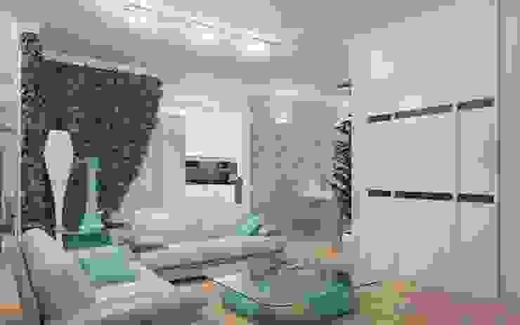 Modern Living Room by Студия дизайна интерьера 'Золотое сечение' Modern