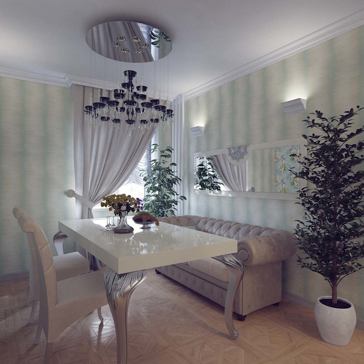 Modern Dining Room by Студия дизайна интерьера 'Золотое сечение' Modern