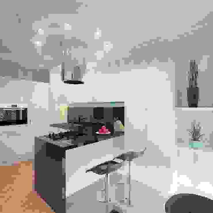 Modern Kitchen by Студия дизайна интерьера 'Золотое сечение' Modern