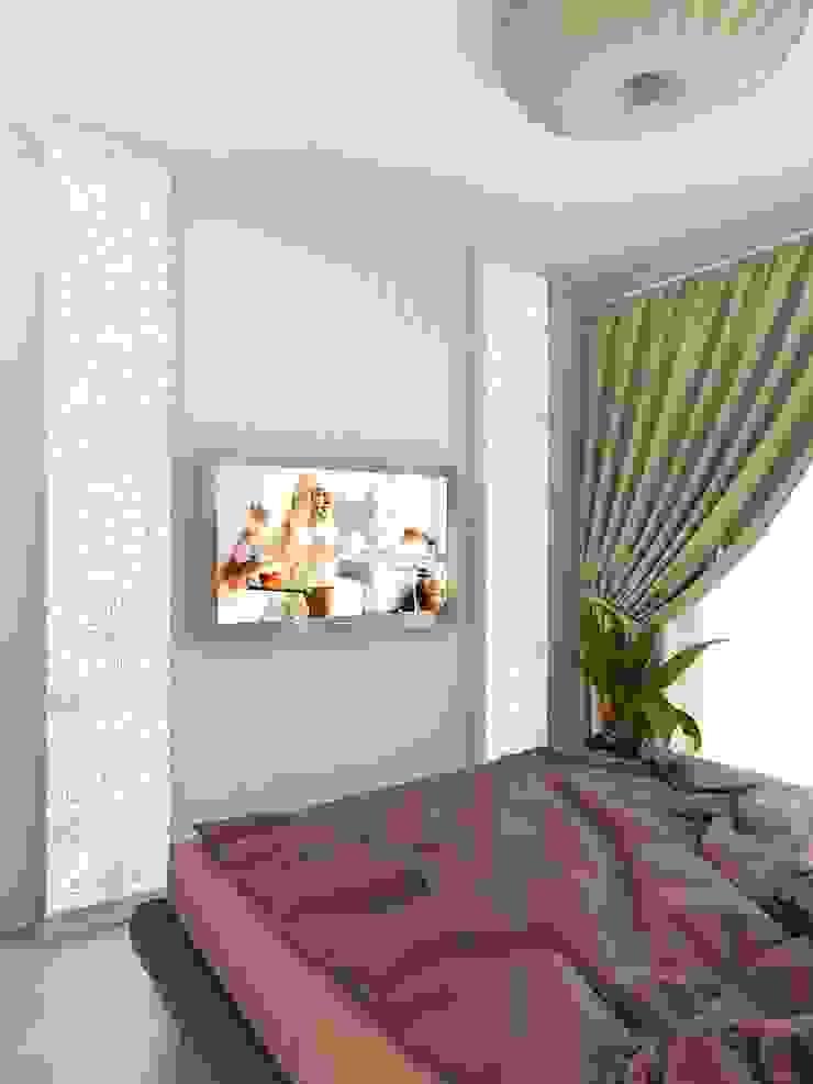 Modern Bedroom by Студия дизайна интерьера 'Золотое сечение' Modern