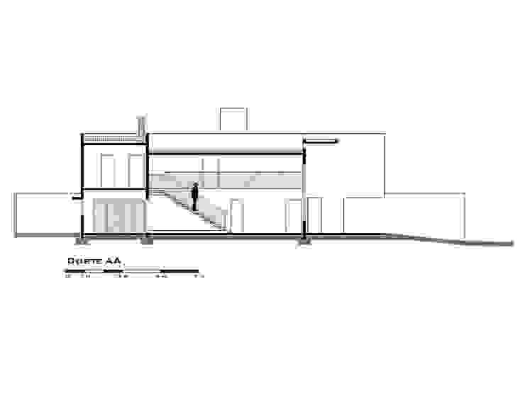 Desenho técnico: corte longitudinal von Tony Santos Arquitetura