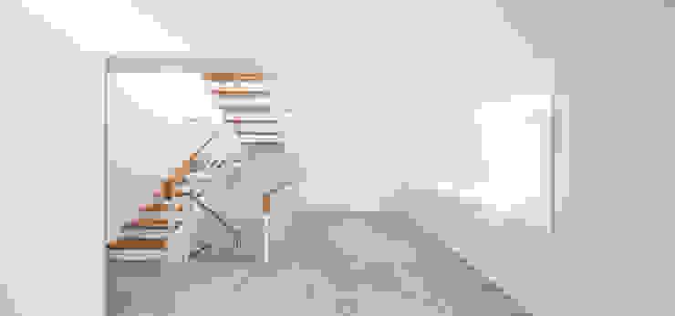 Casa CP Pasillos, vestíbulos y escaleras de estilo minimalista de Alventosa Morell Arquitectes Minimalista