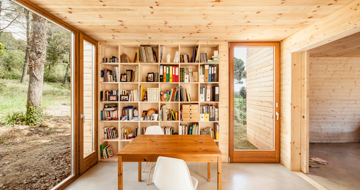 Casa GG Modern style study/office by Alventosa Morell Arquitectes Modern
