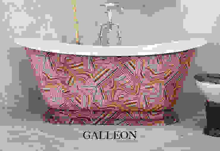 Galleon Cast Iron Bath Clad in Andrew Martin Vita Multi Fabric Classic style bathroom by Hurlingham Baths Classic