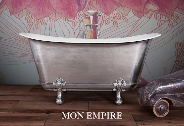 Mon Empire with Feet. Cast Iron Bath with Hand Polished Exterior Hurlingham Baths Bagno in stile classico