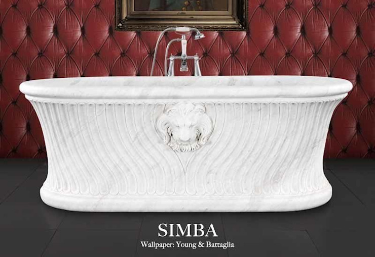 Simba Hand Carved Marble Classic style bathroom by Hurlingham Baths Classic