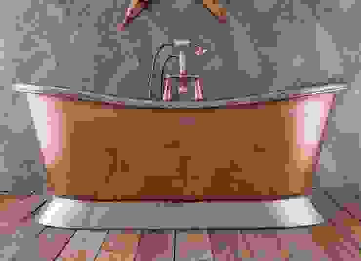 Copper Bateau Bath - Polished Nickel Interior & Plinth Classic style bathroom by Hurlingham Baths Classic