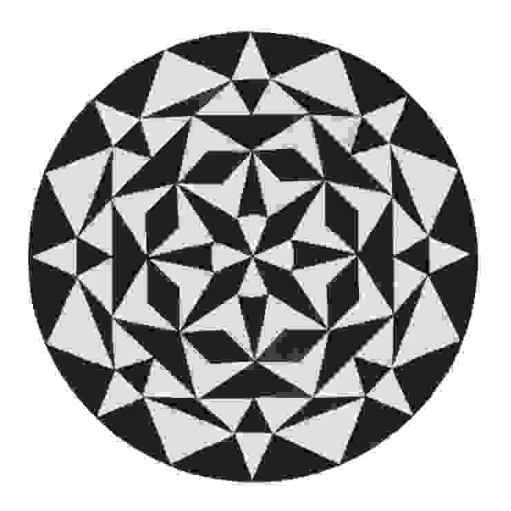 WovenGround Ambition round rug, hand made: modern  by WovenGround, Modern