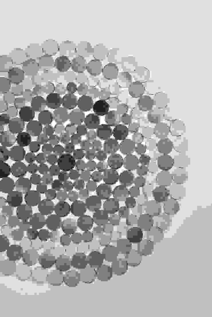 WovenGround Gelato round rug hand made in leather : modern  by WovenGround, Modern
