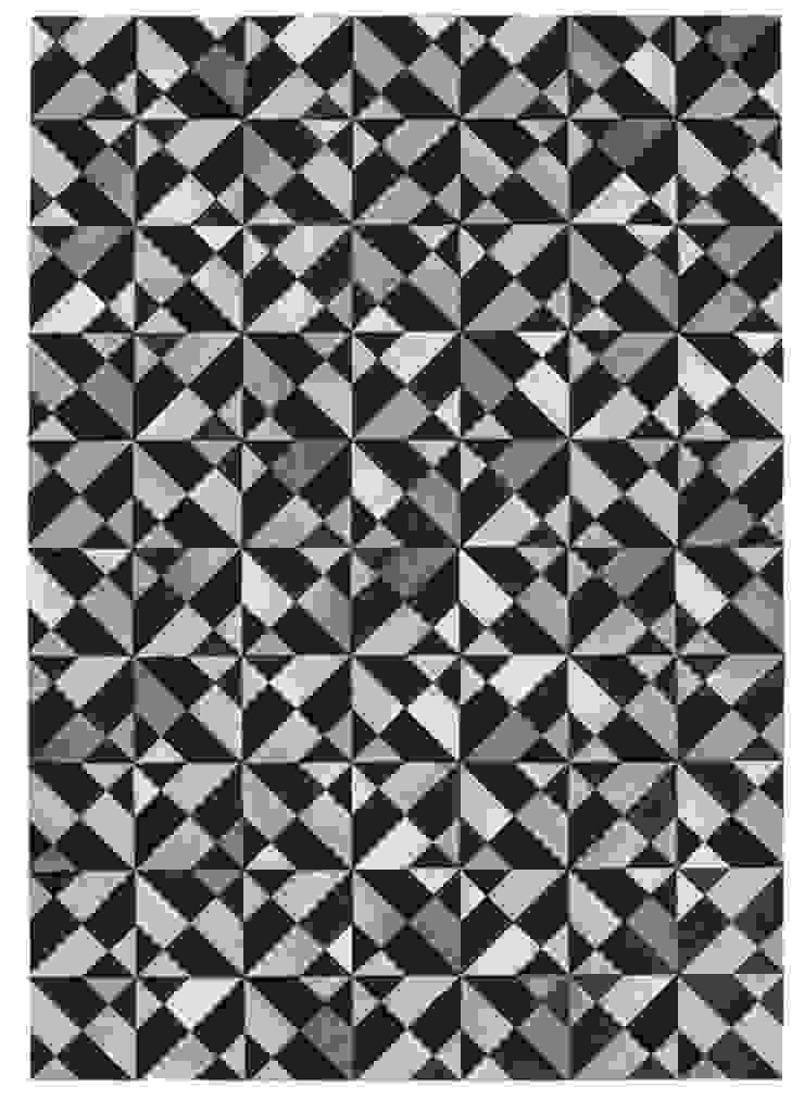 WovenGround Giza hand made leather rug - black: modern  by WovenGround, Modern