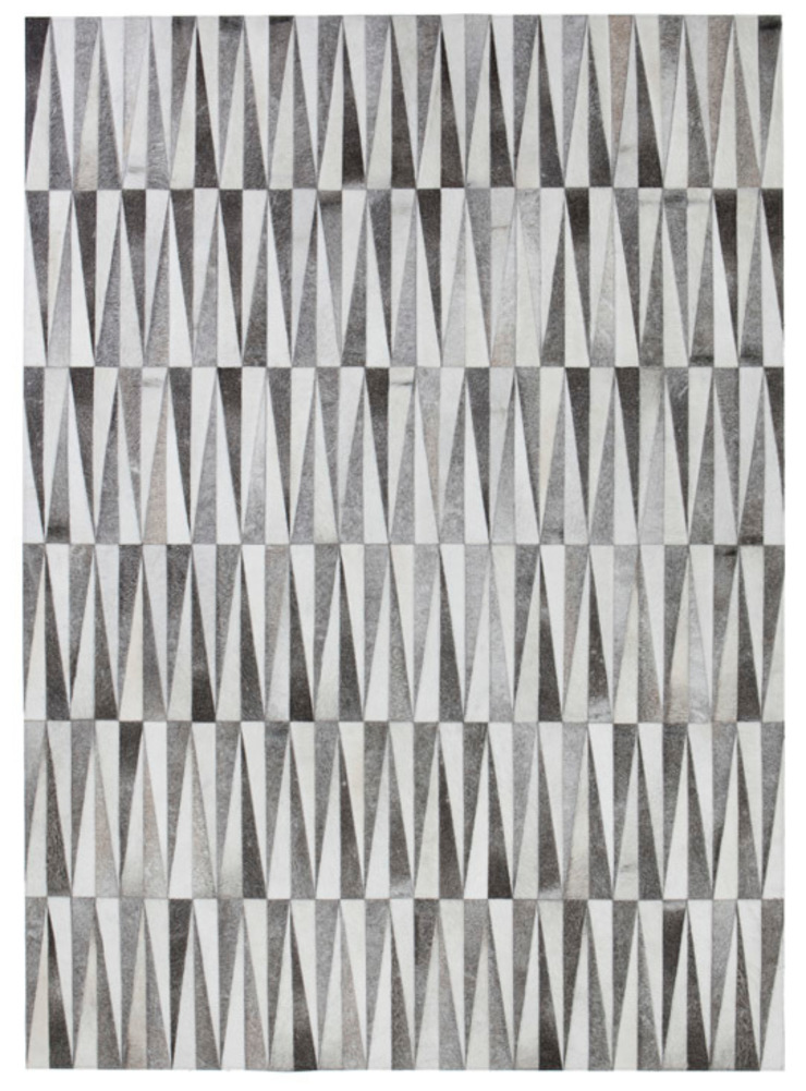 WovenGround Opal hand made rug in leather - grey: modern  by WovenGround, Modern