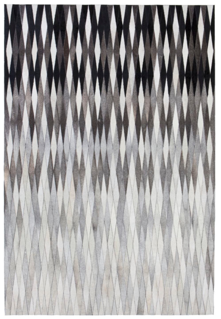 WovenGround Dynasty hand made leather rug - grey: modern  by WovenGround, Modern