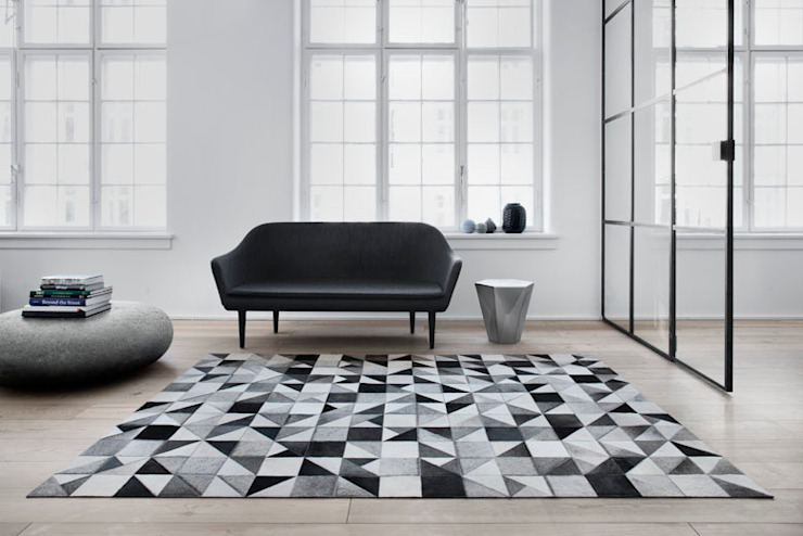 WovenGround Gallery hand made leather rug: modern  by WovenGround, Modern