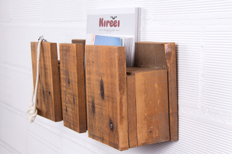 POSETS estantería palets. 47cm de ECOdECO Mobiliario Rústico