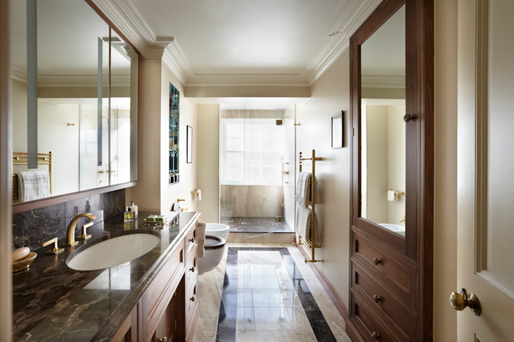 Bathroom, with Shower enclosure at the end Classic style bathroom by Meltons Classic