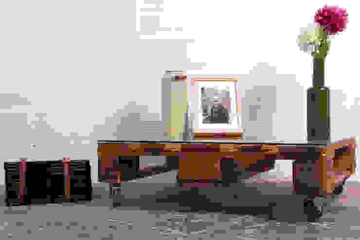 TEIDE mesa palets. 80x68cm, 1 altura de ECOdECO Mobiliario Rústico