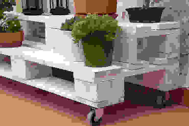GABARRÓ jardinera palets. 120x47cm, 2 alturas de ECOdECO Mobiliario Rústico