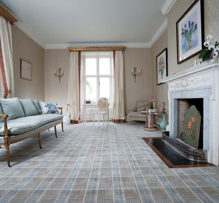 Flock carpets made in 100% Laneve, a premium wool sourced from Wools of New Zealand par Flock Living Moderne