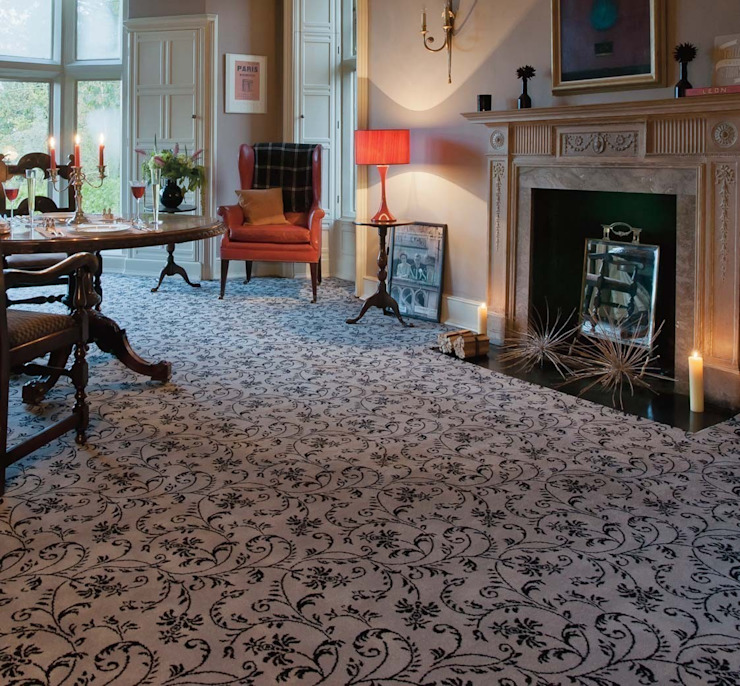 Flock carpets made in 100% Laneve, a premium wool sourced from Wools of New Zealand Flock Living Parede e pisoTapetes e alcatifas
