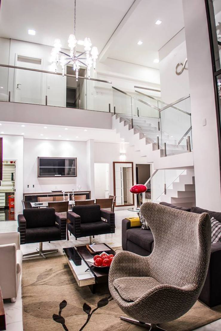 Projeto VB 01 Salas de estar modernas por HAUS Moderno