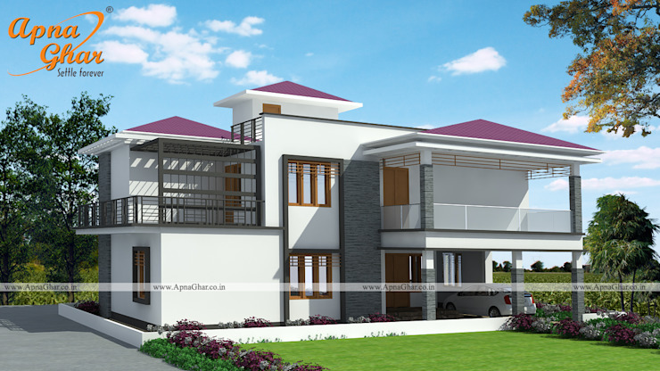 Duplex House Design by ApnaGhar.co.in | homify