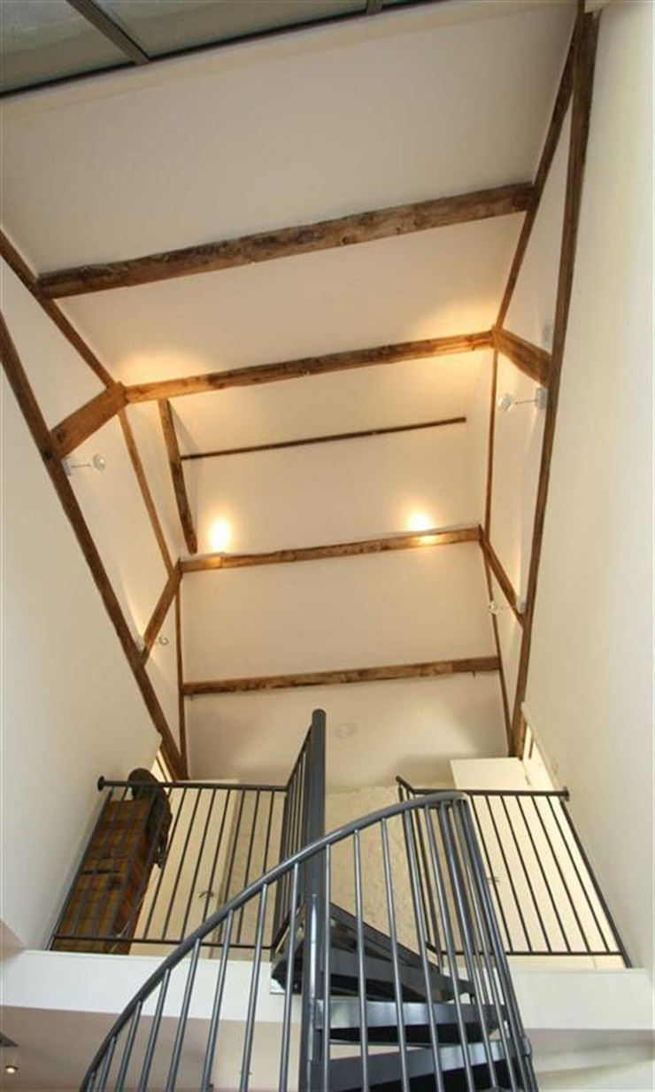 Wood Farm Barn Country style corridor, hallway& stairs by Seymour-Smith Architects Country