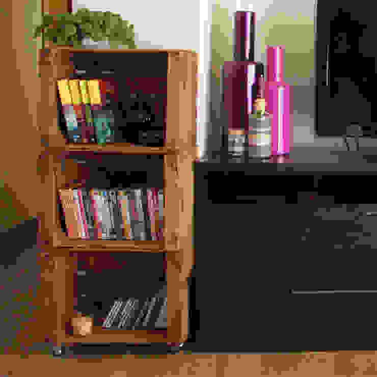 MORERA estantería cajas de fruta. 3 Cajas de ECOdECO Mobiliario Rústico