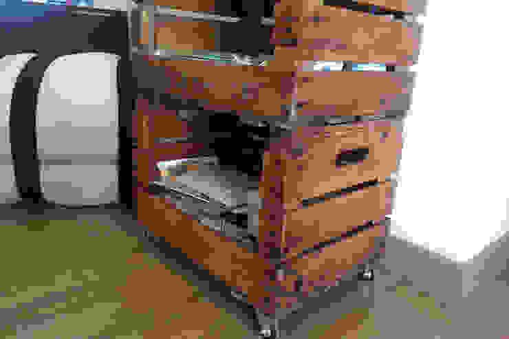 PALMITO estantería cajas de fruta. 3 Caja de ECOdECO Mobiliario Rústico