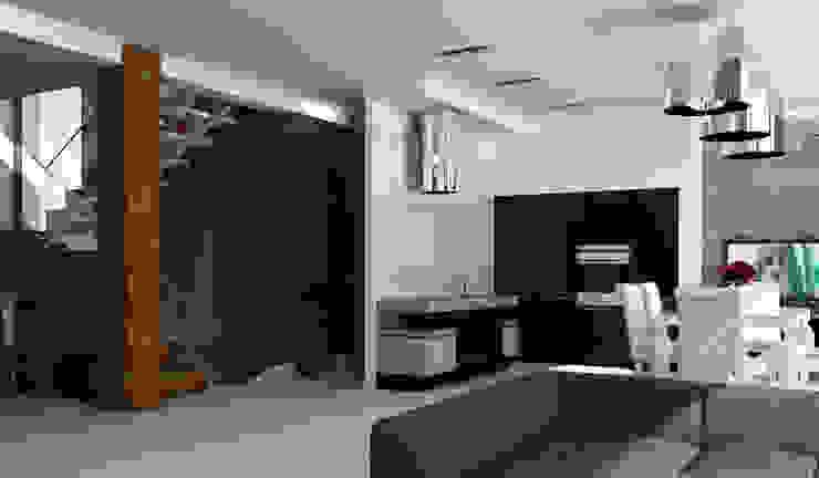 Интерьер дома с витражным остеклением Гостиная в стиле лофт от Quality Metric Лофт