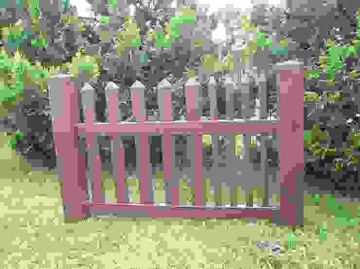 Ogrodzenie w kolorze brązowym Klasyczny ogród od Ogrodzenia PCV Klasyczny