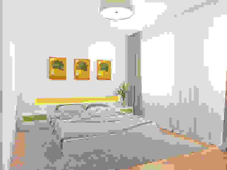 Спальня Спальня в стиле минимализм от Осташкина Галина Минимализм