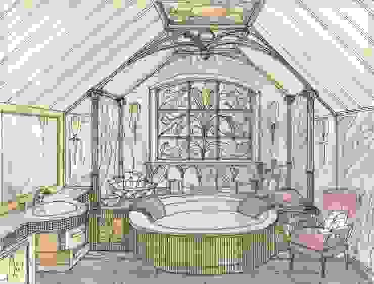 Эскиз ванной комнаты хозяев от Студия Анны Куликовой и Павла Миронова