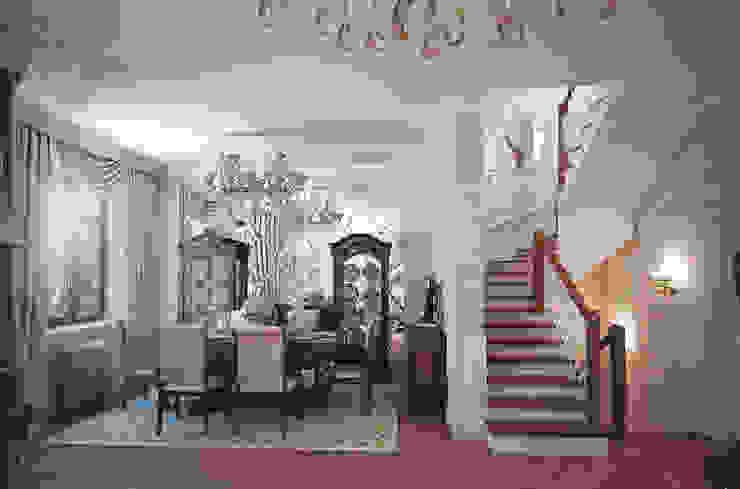 Дом с английскими мотивами Столовая комната в классическом стиле от премиум интериум Классический