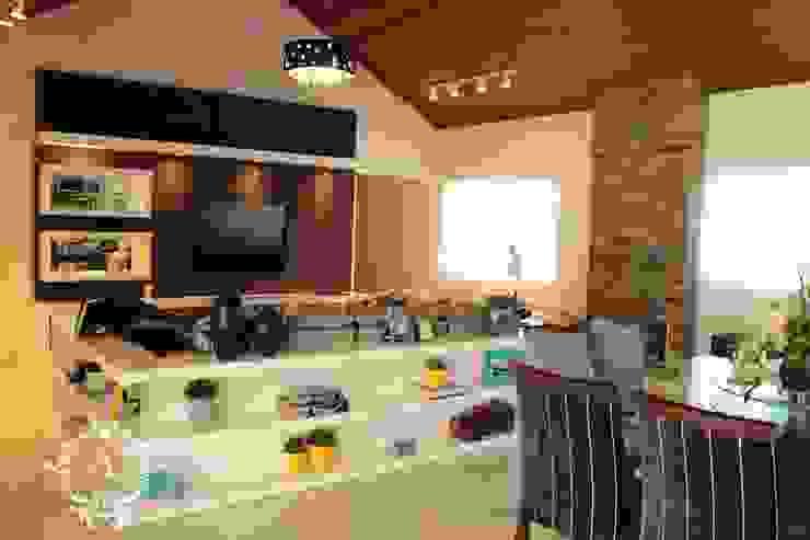 RESIDÊNCIA DB Salas de estar modernas por Apê 102 Arquitetura Moderno