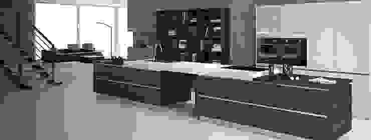 Handleless Finn Walnut Kitchen Modern kitchen by Belvoir Interiors Ltd Modern