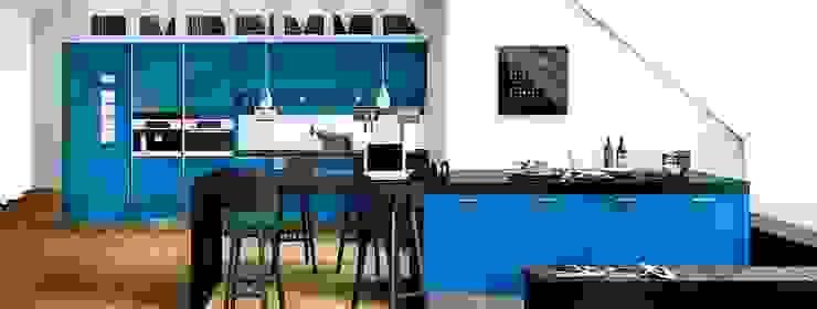 Rino Blue Gloss Modern Kitchen Modern kitchen by Belvoir Interiors Ltd Modern