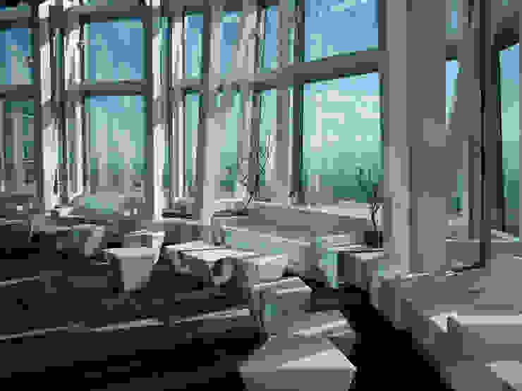 terraza Oficinas y tiendas de estilo moderno de CANDIDO HERMIDA N.M Moderno