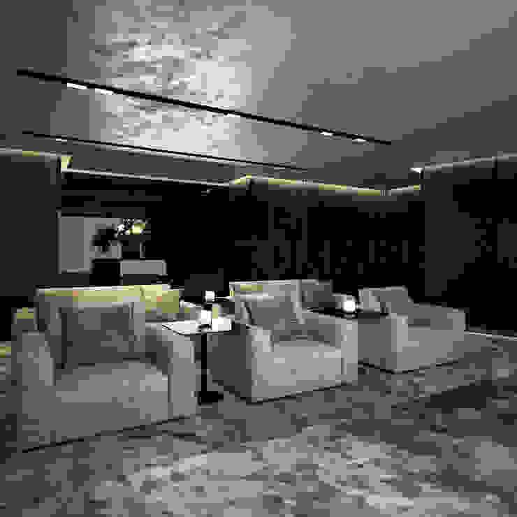 Bowmont Residence, LA, USA Медиа комнаты в эклектичном стиле от Anton Neumark Эклектичный