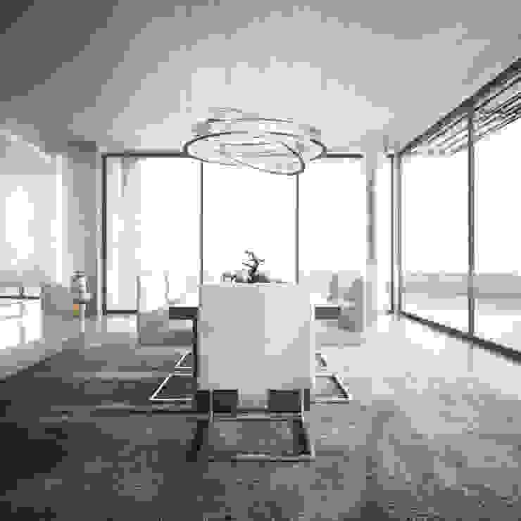 Bowmont Residence, LA, USA Столовая комната в эклектичном стиле от Anton Neumark Эклектичный