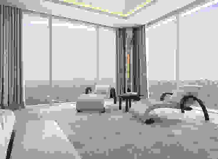 Bowmont Residence, LA, USA Спальня в эклектичном стиле от Anton Neumark Эклектичный