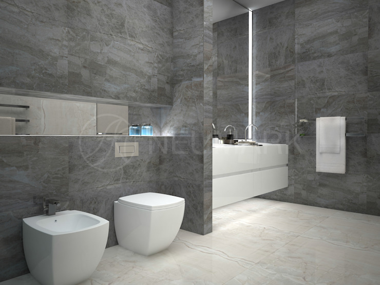 Bowmont Dr. Residense. Частный дом на Bowmont Dr. Ванная комната в эклектичном стиле от Anton Neumark Эклектичный