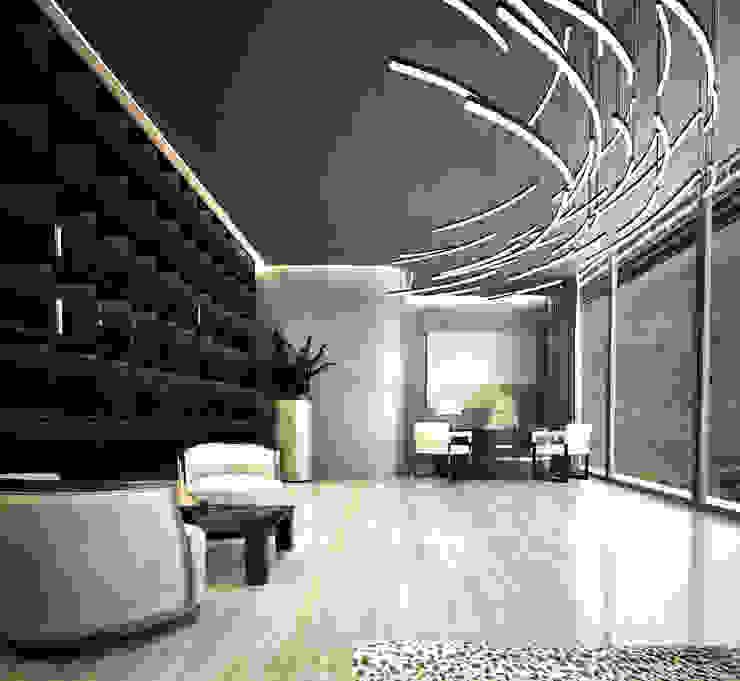 Bowmont Residence, LA, USA Рабочий кабинет в эклектичном стиле от Anton Neumark Эклектичный