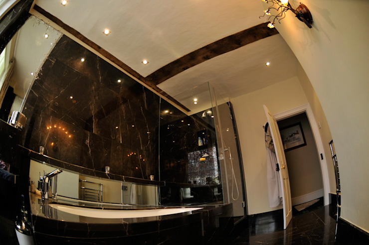 Black Marble Bathroom, Orset Modern bathroom by Ogle luxury Kitchens & Bathrooms Modern