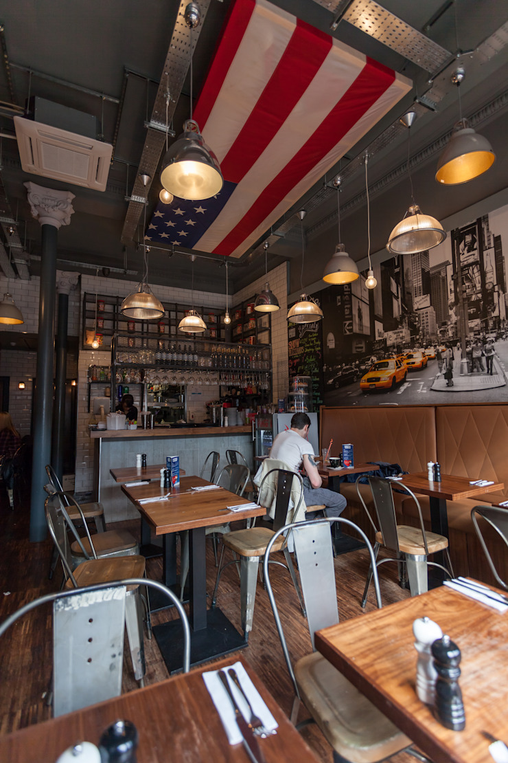 TriBeCa West interior view 5 Industrial style gastronomy by Coogan Architects Industrial