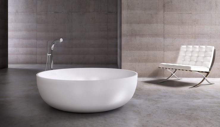 Luna Stone Bath de Waters Baths of Ashbourne Moderno