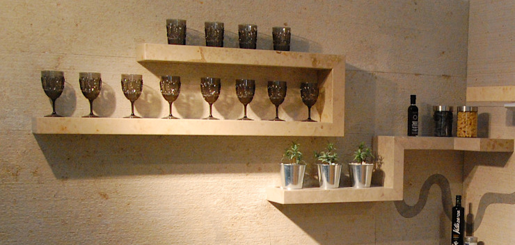 Stone shelves: modern  by Ogle luxury Kitchens & Bathrooms, Modern