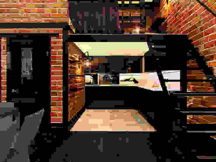 Квартира в стиле LOFT в Москве Кухня в стиле лофт от Anna Vladimirova Лофт