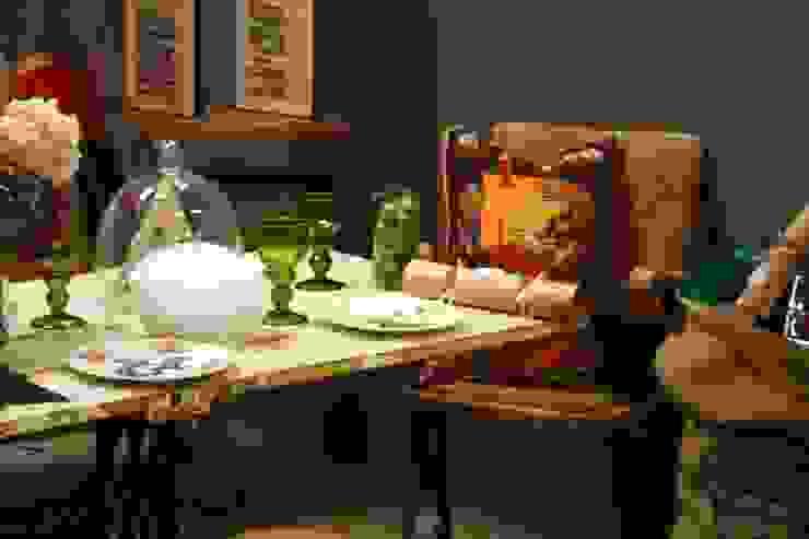 Upcycled Dining Room Design Salle à manger originale par Little Mill House Éclectique